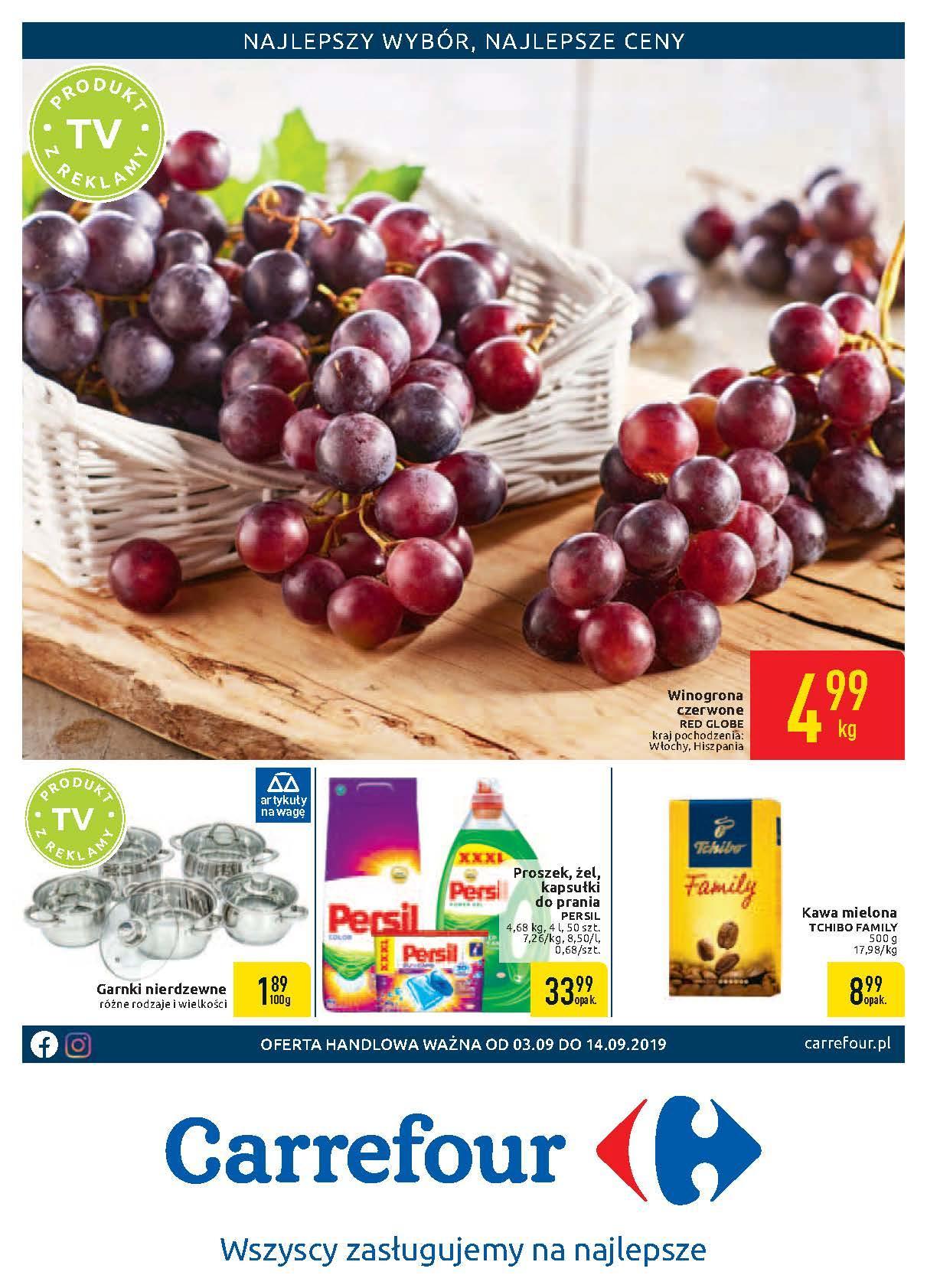 Gazetka promocyjna Carrefour do 14/09/2019 str.0