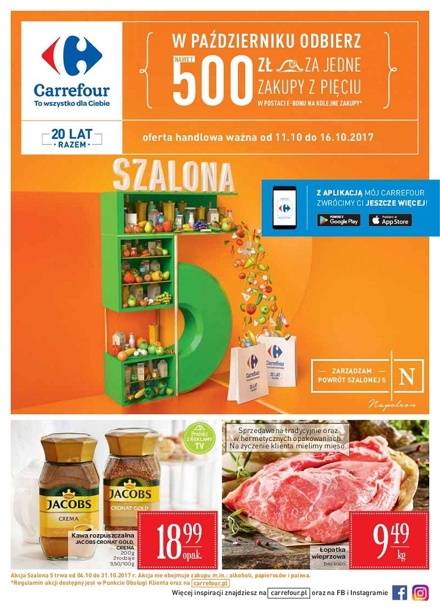 Gazetka promocyjna Carrefour do 16/10/2017 str.0