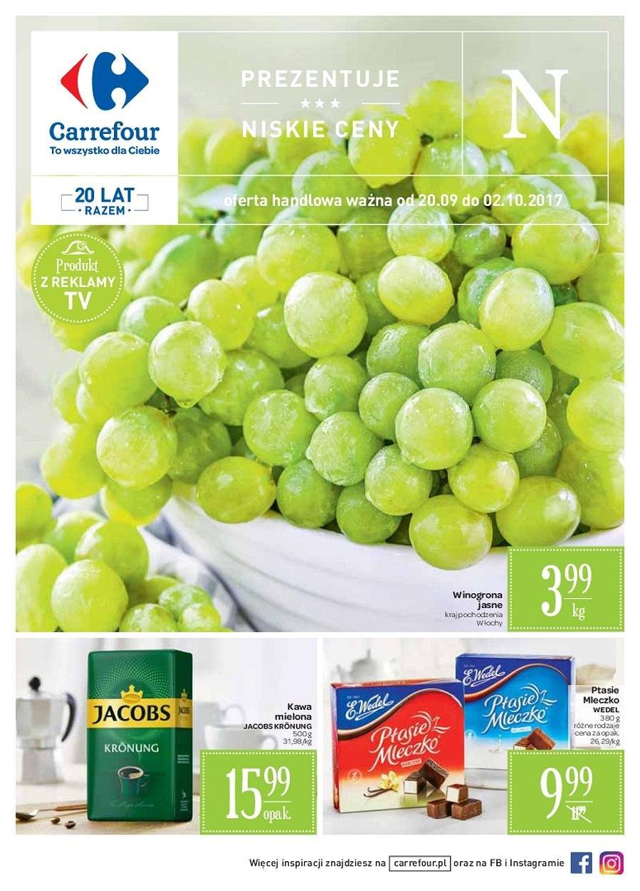 Gazetka promocyjna Carrefour do 02/10/2017 str.0