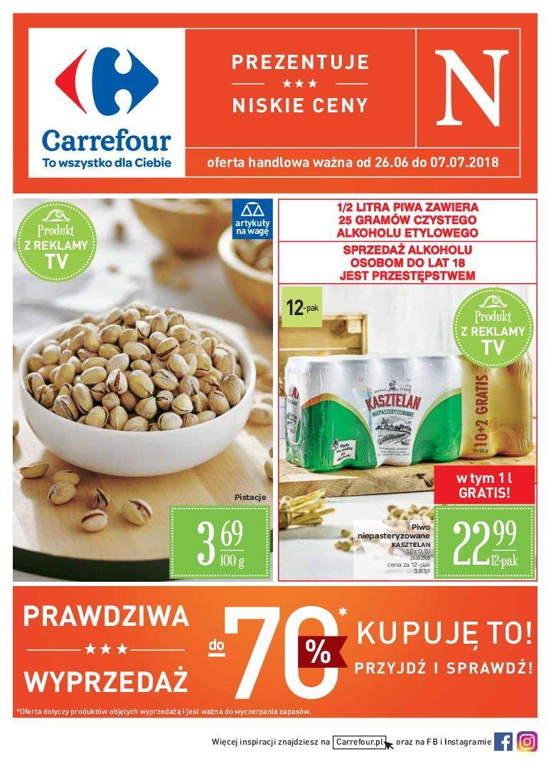 Gazetka promocyjna Carrefour do 07/07/2018 str.1
