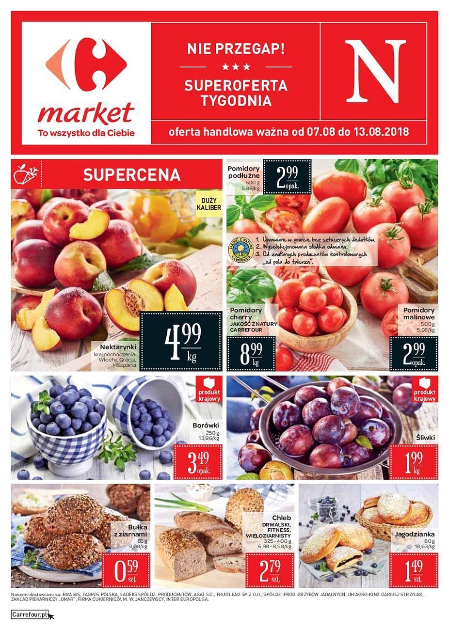 Gazetka promocyjna Carrefour Market do 13/08/2018 str.1