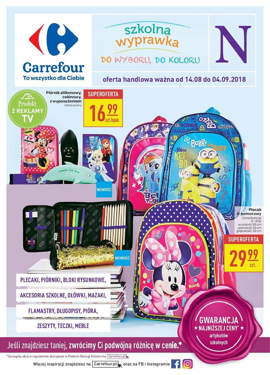 Gazetka promocyjna Carrefour do 04/09/2018 str.1