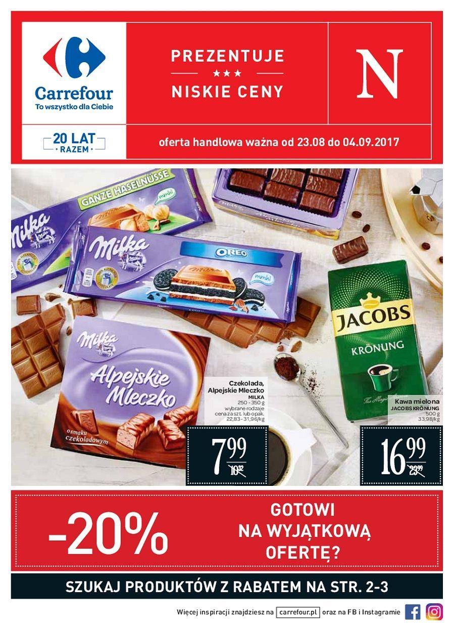 Gazetka promocyjna Carrefour do 04/09/2017 str.0