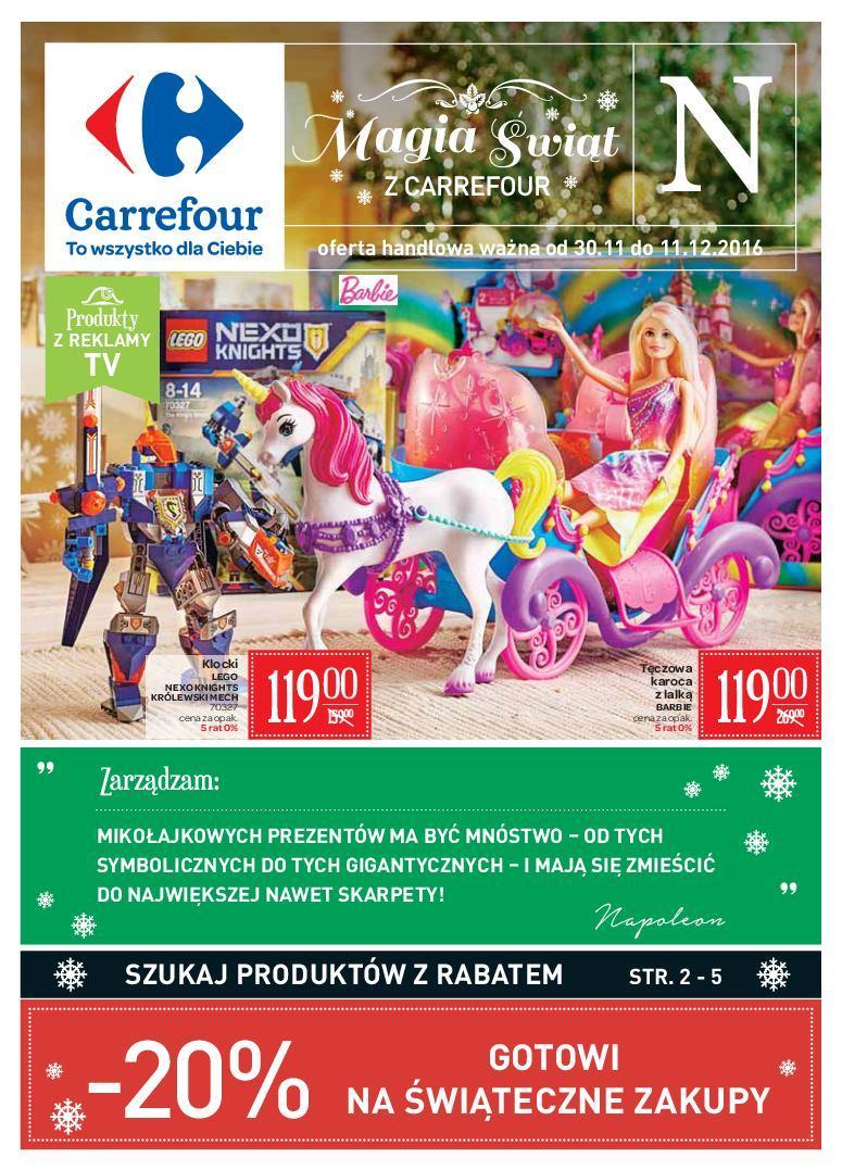 Gazetka promocyjna Carrefour do 11/12/2016 str.0