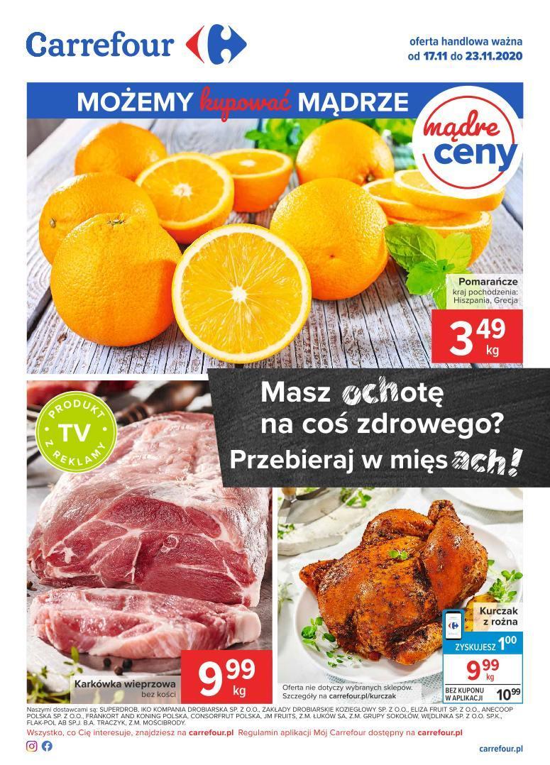 Gazetka promocyjna Carrefour do 23/11/2020 str.1