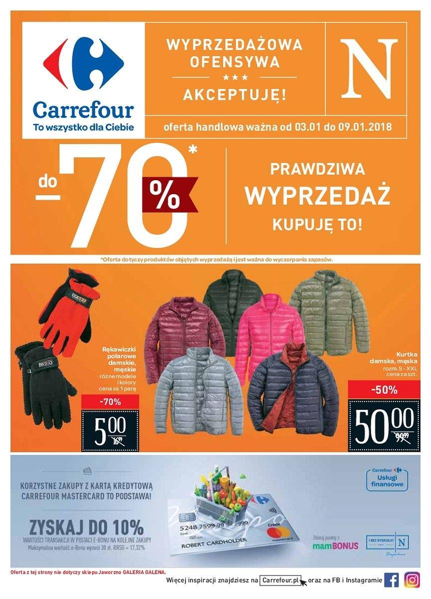 Gazetka promocyjna Carrefour do 09/01/2018 str.0