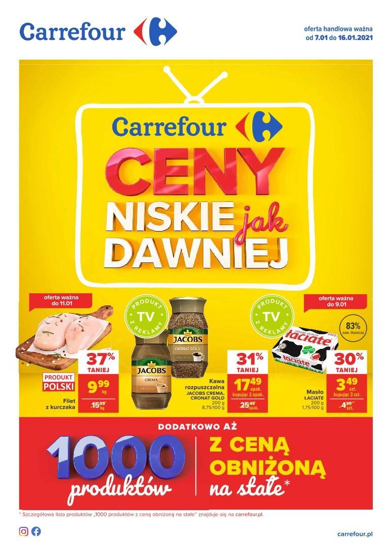 Gazetka promocyjna Carrefour do 16/01/2021 str.1