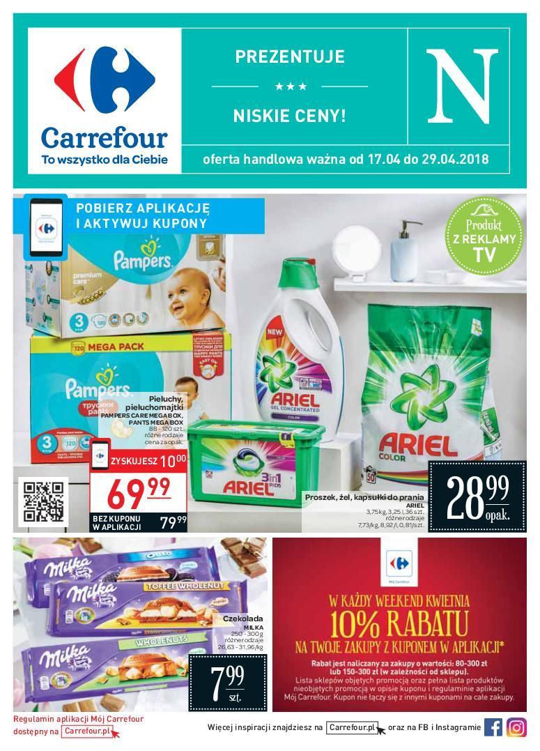 Gazetka promocyjna Carrefour do 29/04/2018 str.1