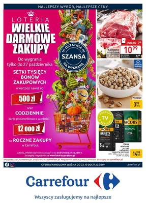 Carrefour gazetka - od 22/10/2019 do 27/10/2019