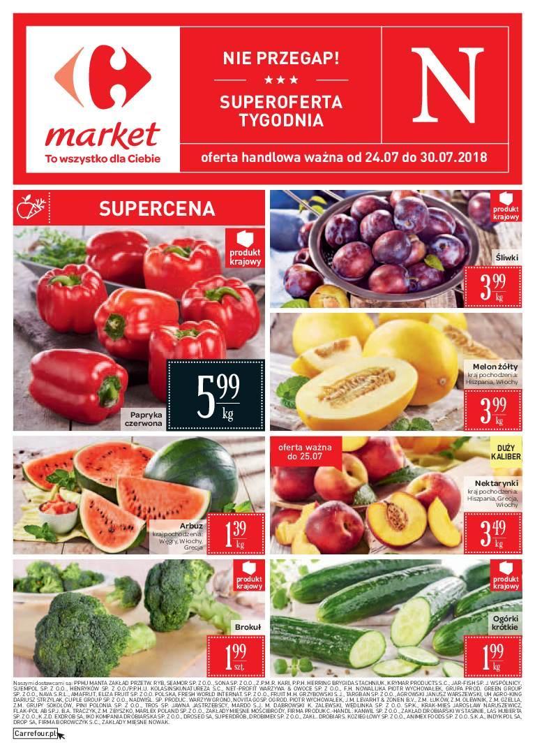 Gazetka promocyjna Carrefour Market do 30/07/2018 str.0