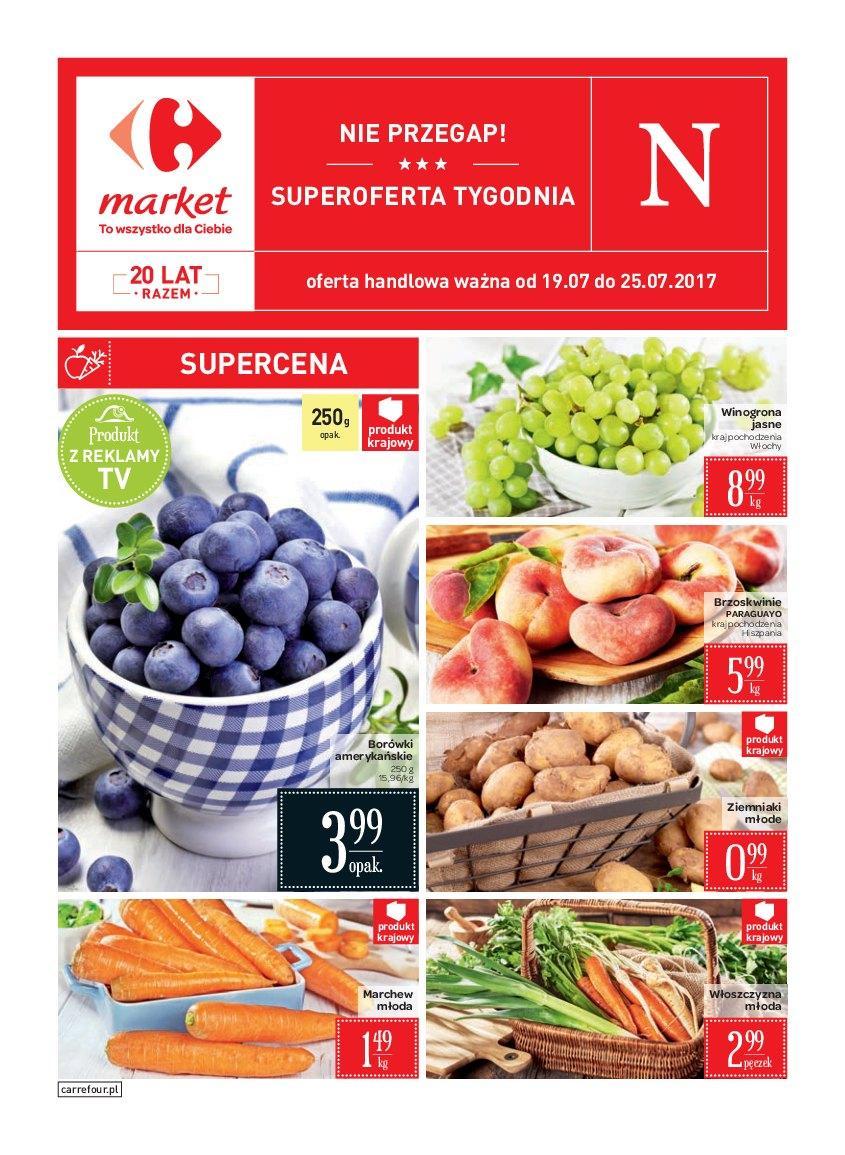 Gazetka promocyjna Carrefour Market do 25/07/2017 str.0