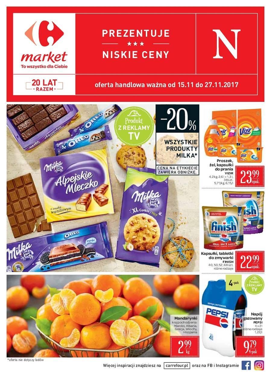 Gazetka promocyjna Carrefour Market do 27/11/2017 str.0