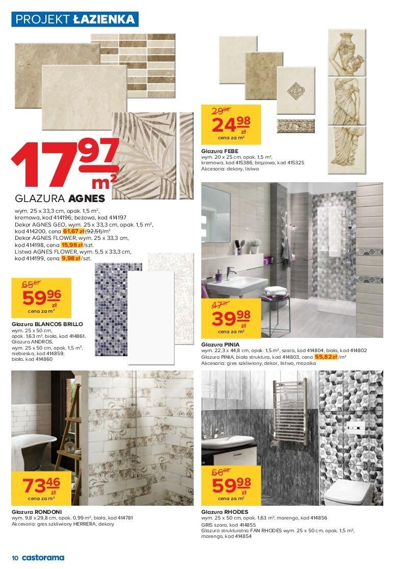 Gazetka Promocyjna I Reklamowa Castorama Projekt łazienka
