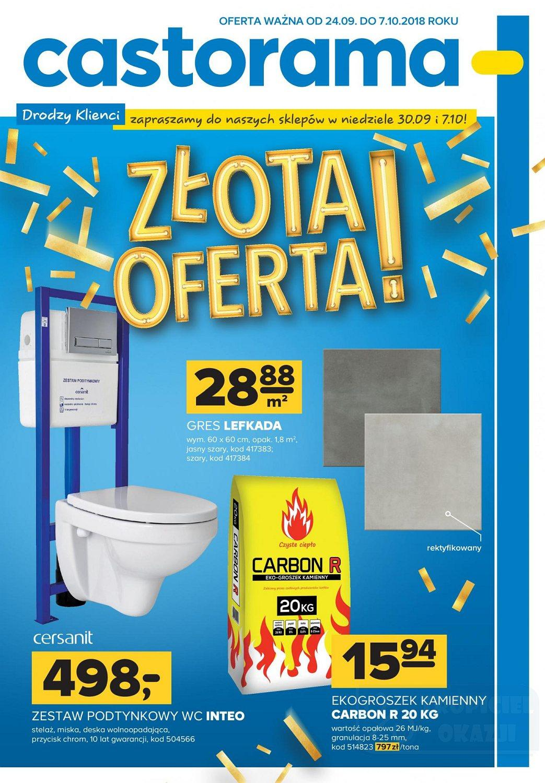 Gazetka promocyjna Castorama do 07/10/2018 str.1