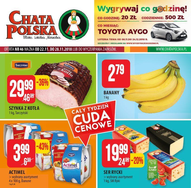 Gazetka promocyjna Chata Polska do 28/11/2018 str.0