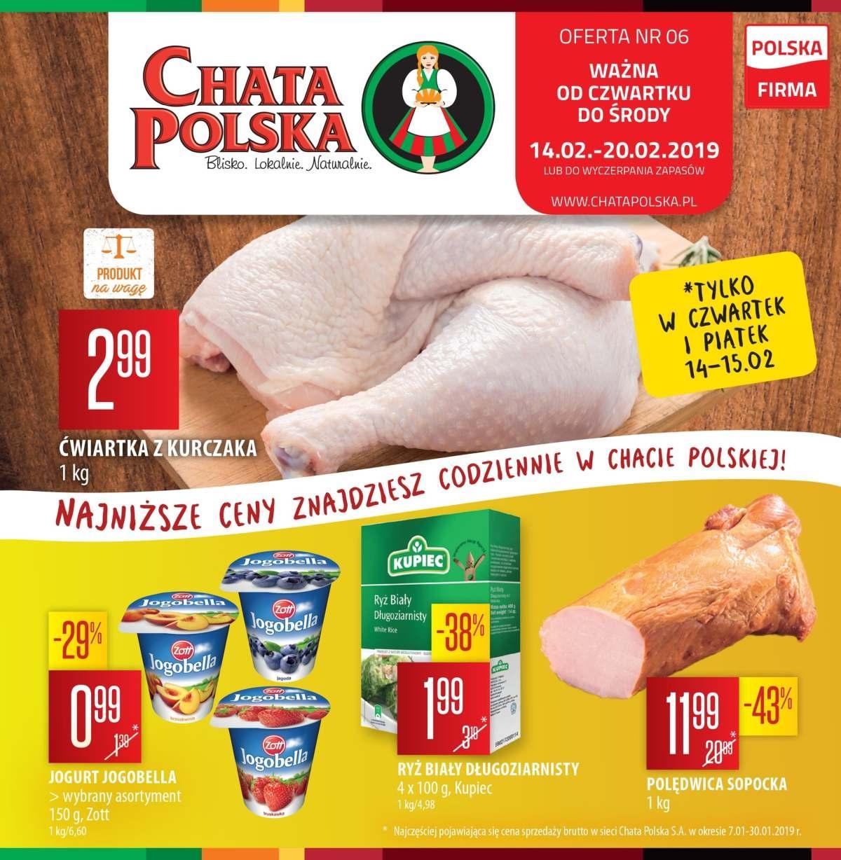 Gazetka promocyjna Chata Polska do 20/02/2019 str.0