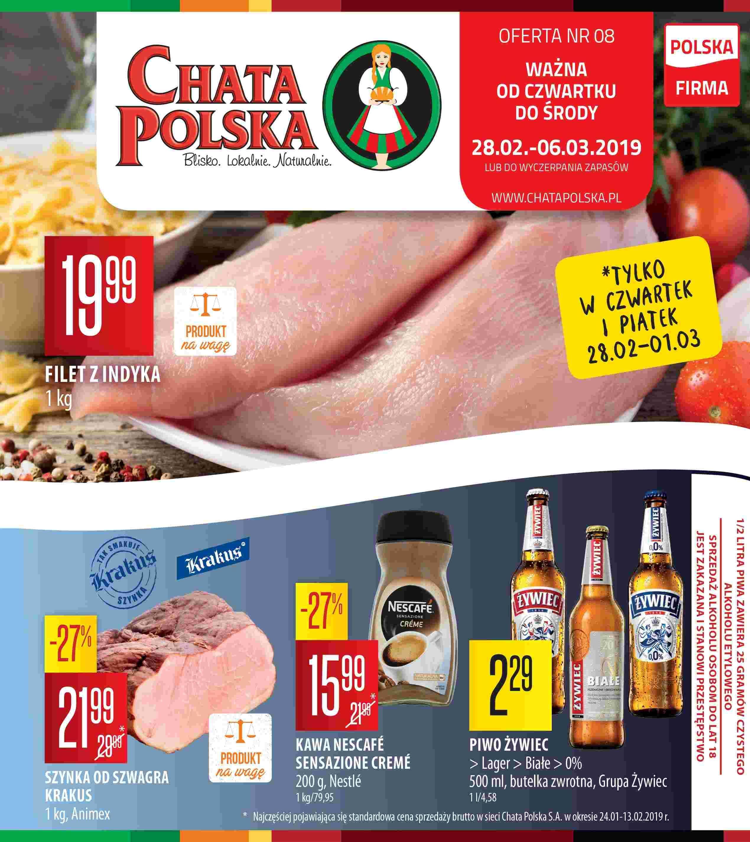 Gazetka promocyjna Chata Polska do 06/03/2019 str.0