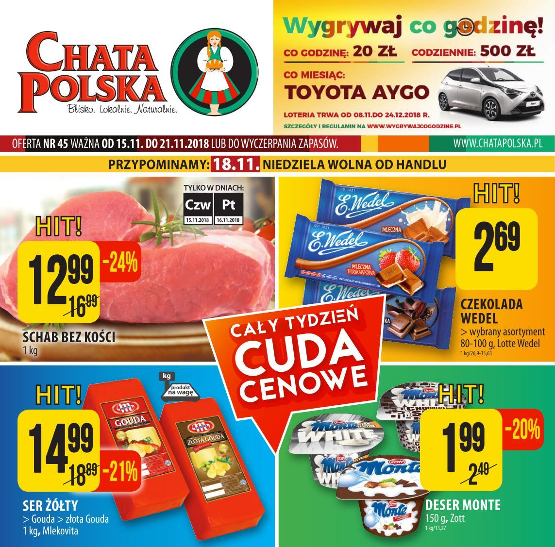 Gazetka promocyjna Chata Polska do 21/11/2018 str.0