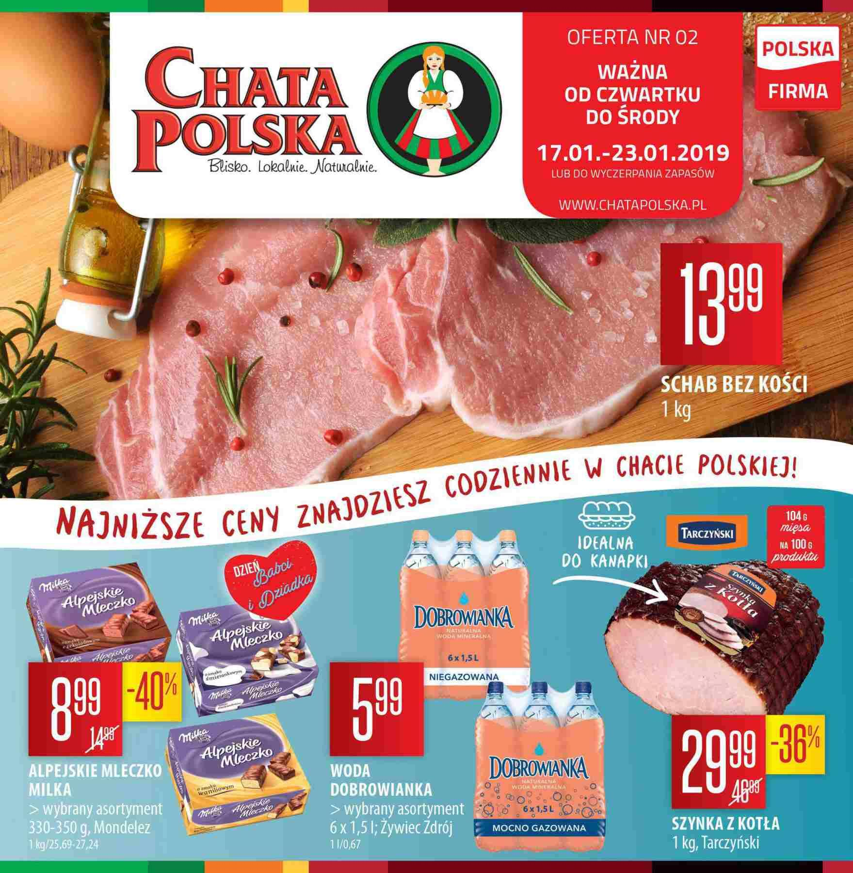 Gazetka promocyjna Chata Polska do 23/01/2019 str.0