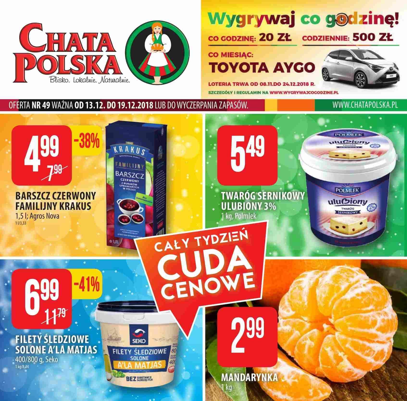 Gazetka promocyjna Chata Polska do 19/12/2018 str.1