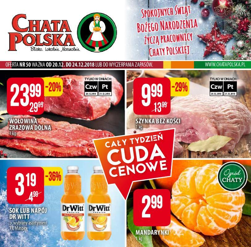 Gazetka promocyjna Chata Polska do 24/12/2018 str.0