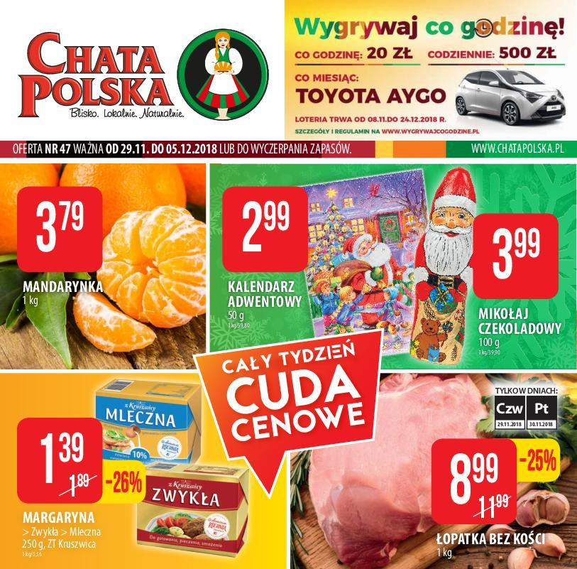Gazetka promocyjna Chata Polska do 05/12/2018 str.1