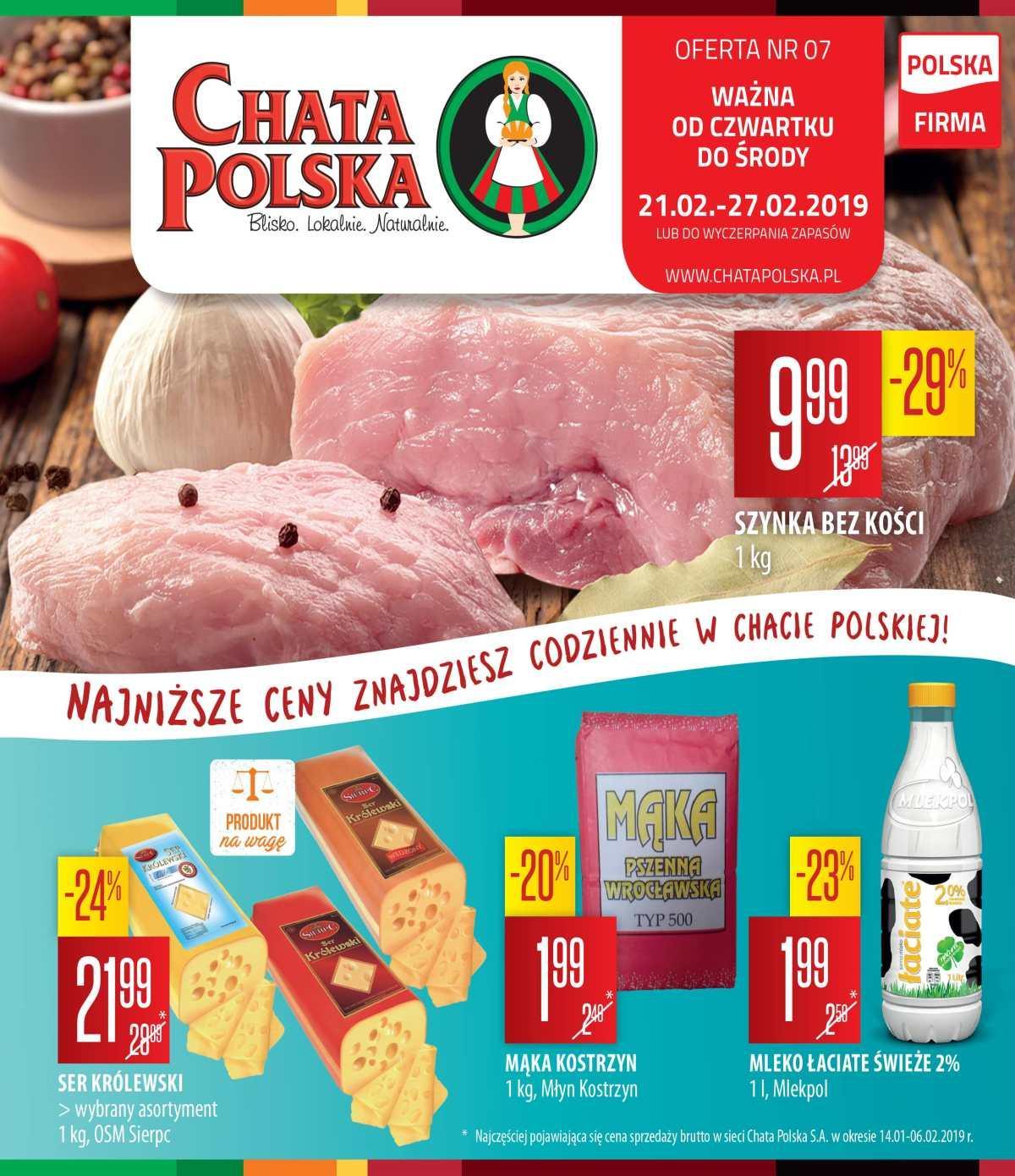 Gazetka promocyjna Chata Polska do 27/02/2019 str.0