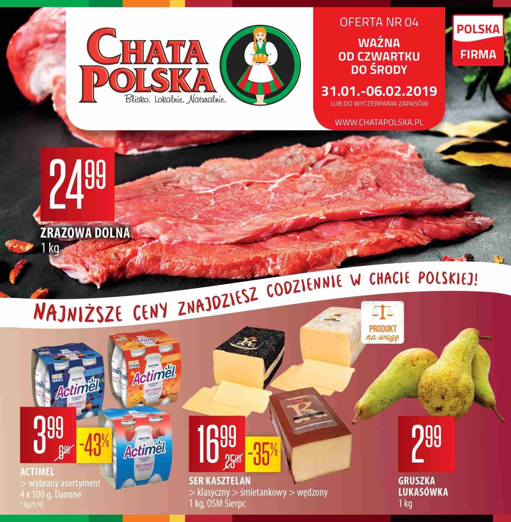 Gazetka promocyjna Chata Polska do 06/02/2019 str.0