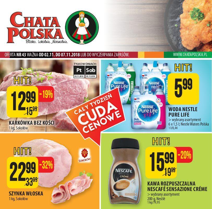 Gazetka promocyjna Chata Polska do 07/11/2018 str.1