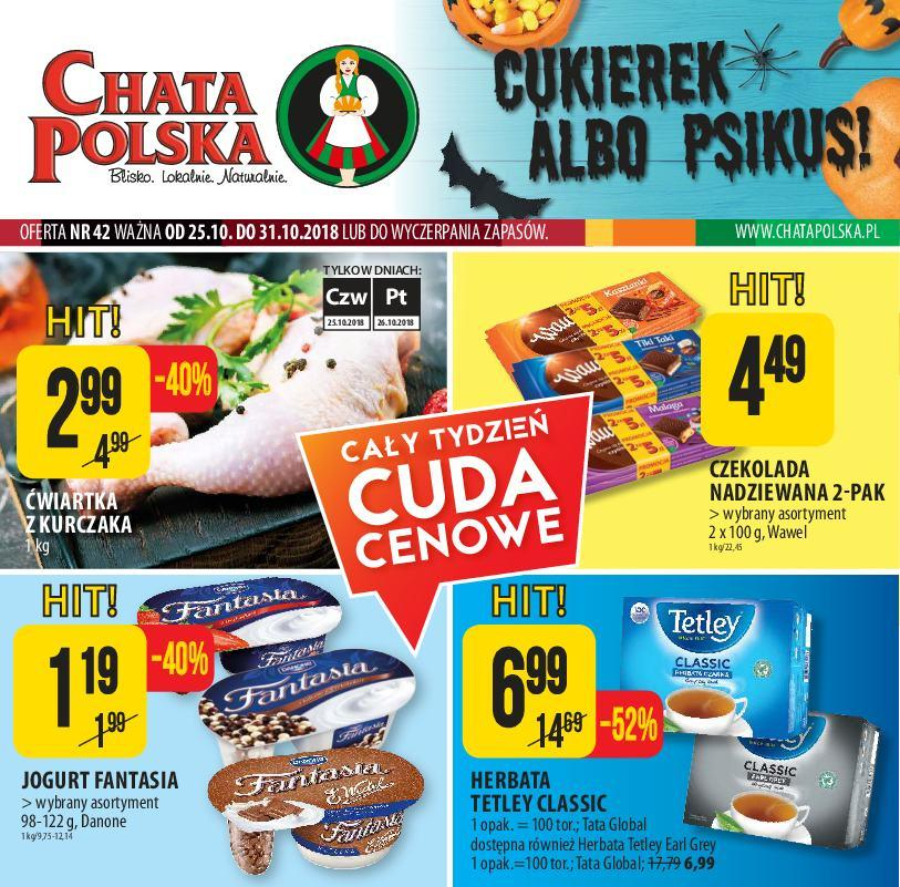Gazetka promocyjna Chata Polska do 31/10/2018 str.0