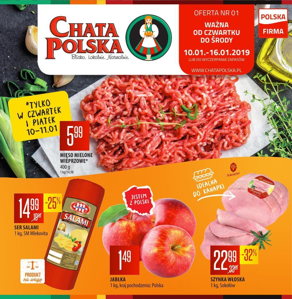 Gazetka promocyjna Chata Polska do 16/01/2019 str.0