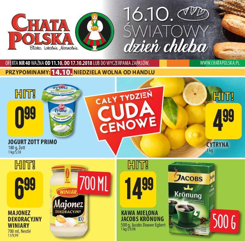 Gazetka promocyjna Chata Polska do 17/10/2018 str.0