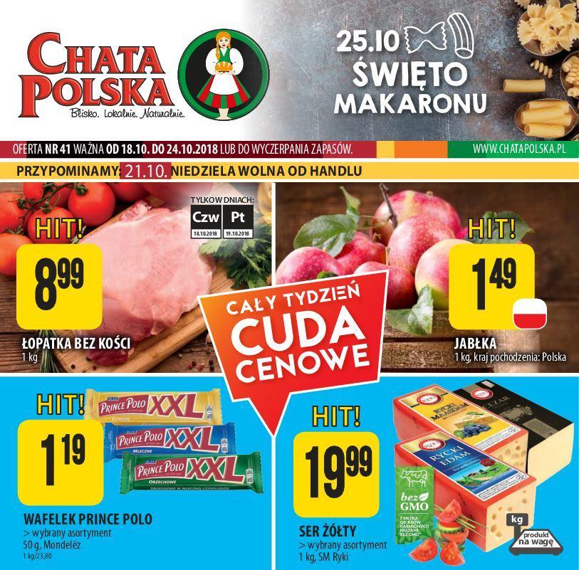 Gazetka promocyjna Chata Polska do 24/10/2018 str.0