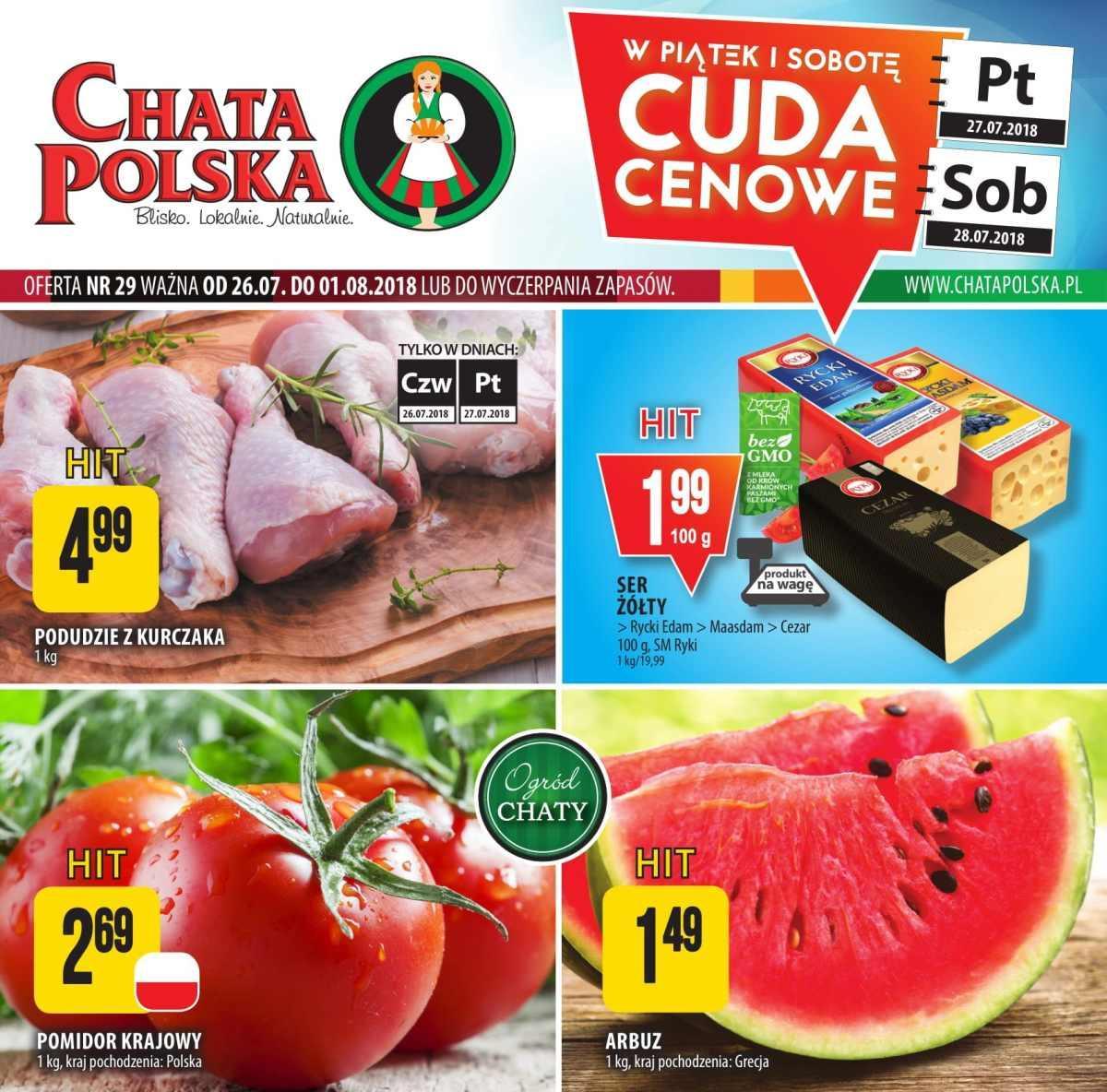 Gazetka promocyjna Chata Polska do 01/08/2018 str.0
