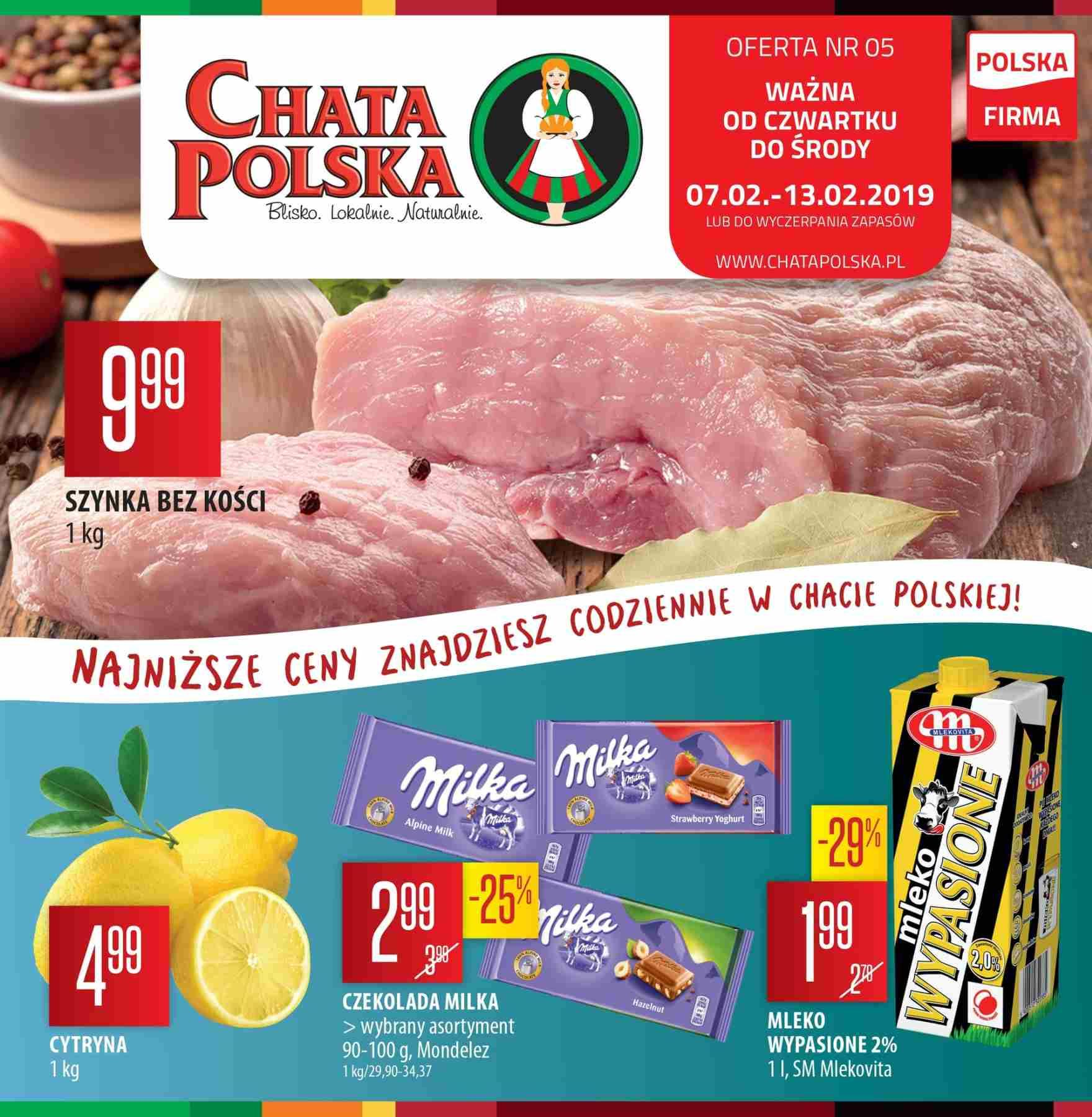 Gazetka promocyjna Chata Polska do 13/02/2019 str.0