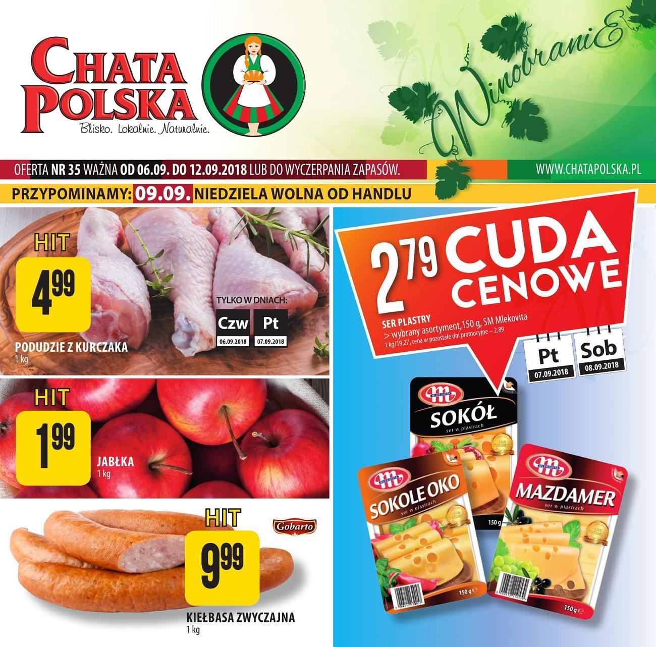 Gazetka promocyjna Chata Polska do 12/09/2018 str.0