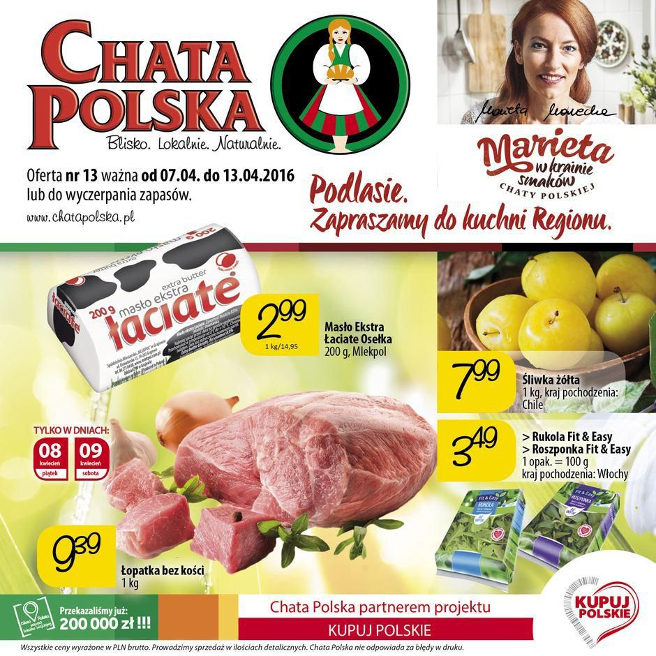 Gazetka promocyjna Chata Polska do 13/04/2016 str.0
