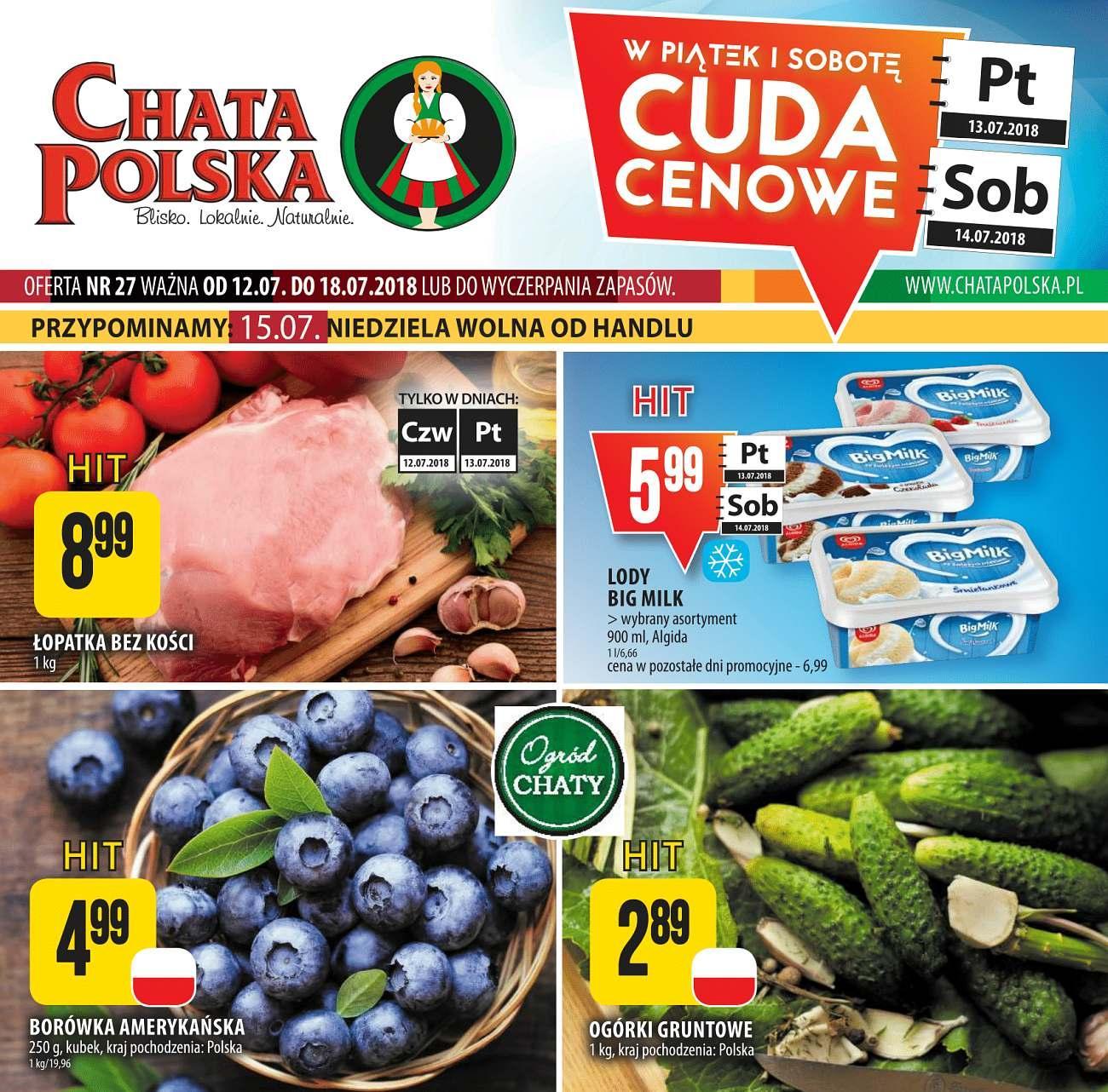 Gazetka promocyjna Chata Polska do 18/07/2018 str.1
