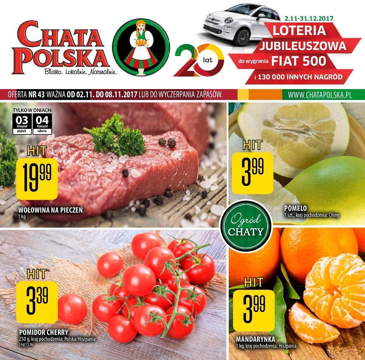 Gazetka promocyjna Chata Polska do 08/11/2017 str.0