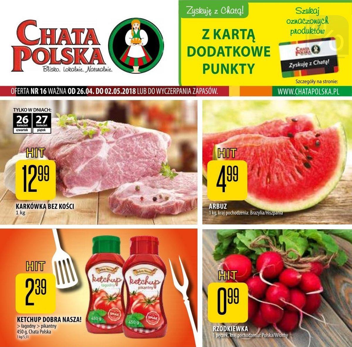 Gazetka promocyjna Chata Polska do 02/05/2018 str.0
