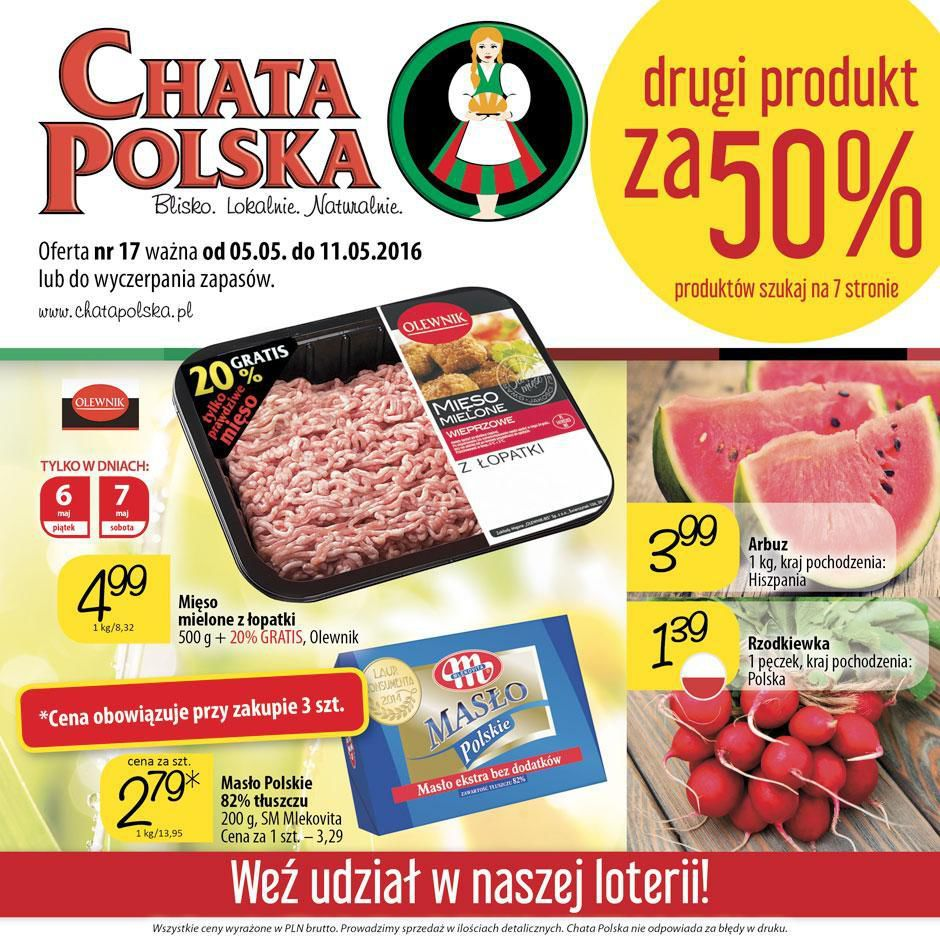Gazetka promocyjna Chata Polska do 11/05/2016 str.0