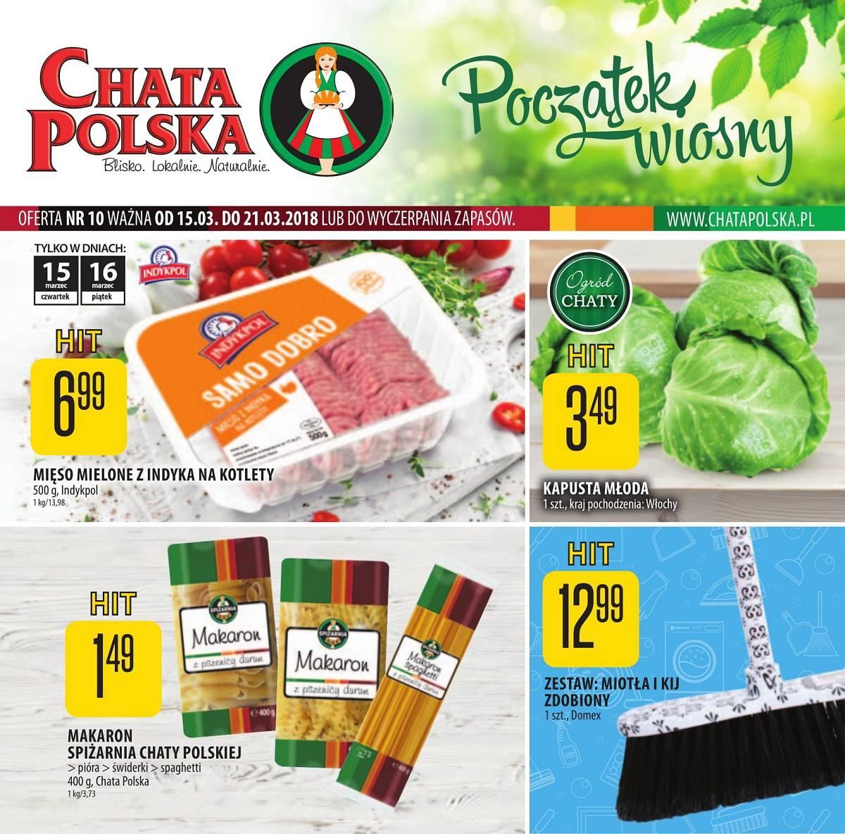 Gazetka promocyjna Chata Polska do 21/03/2018 str.0