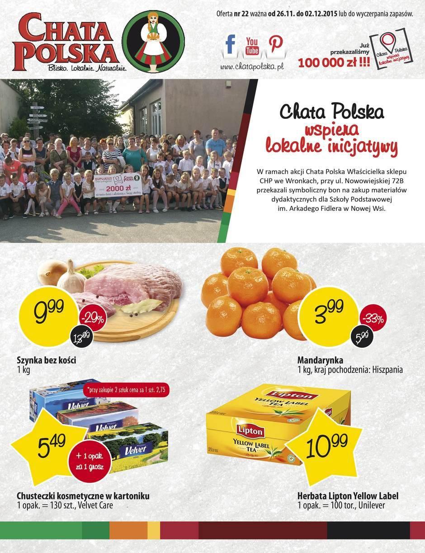 Gazetka promocyjna Chata Polska do 02/12/2015 str.0