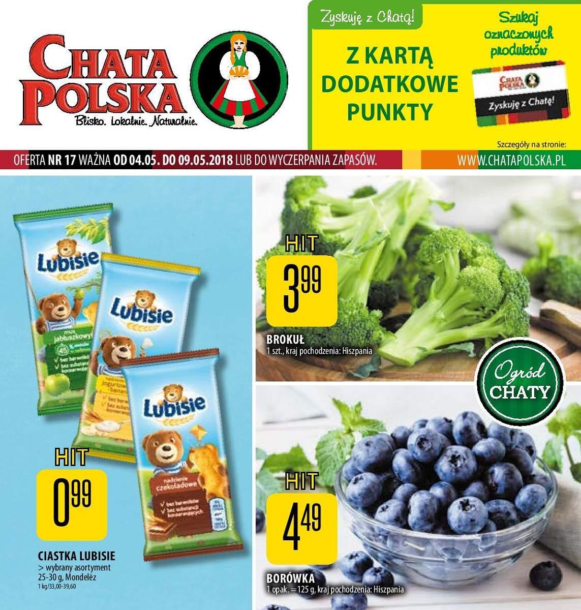Gazetka promocyjna Chata Polska do 09/05/2018 str.0