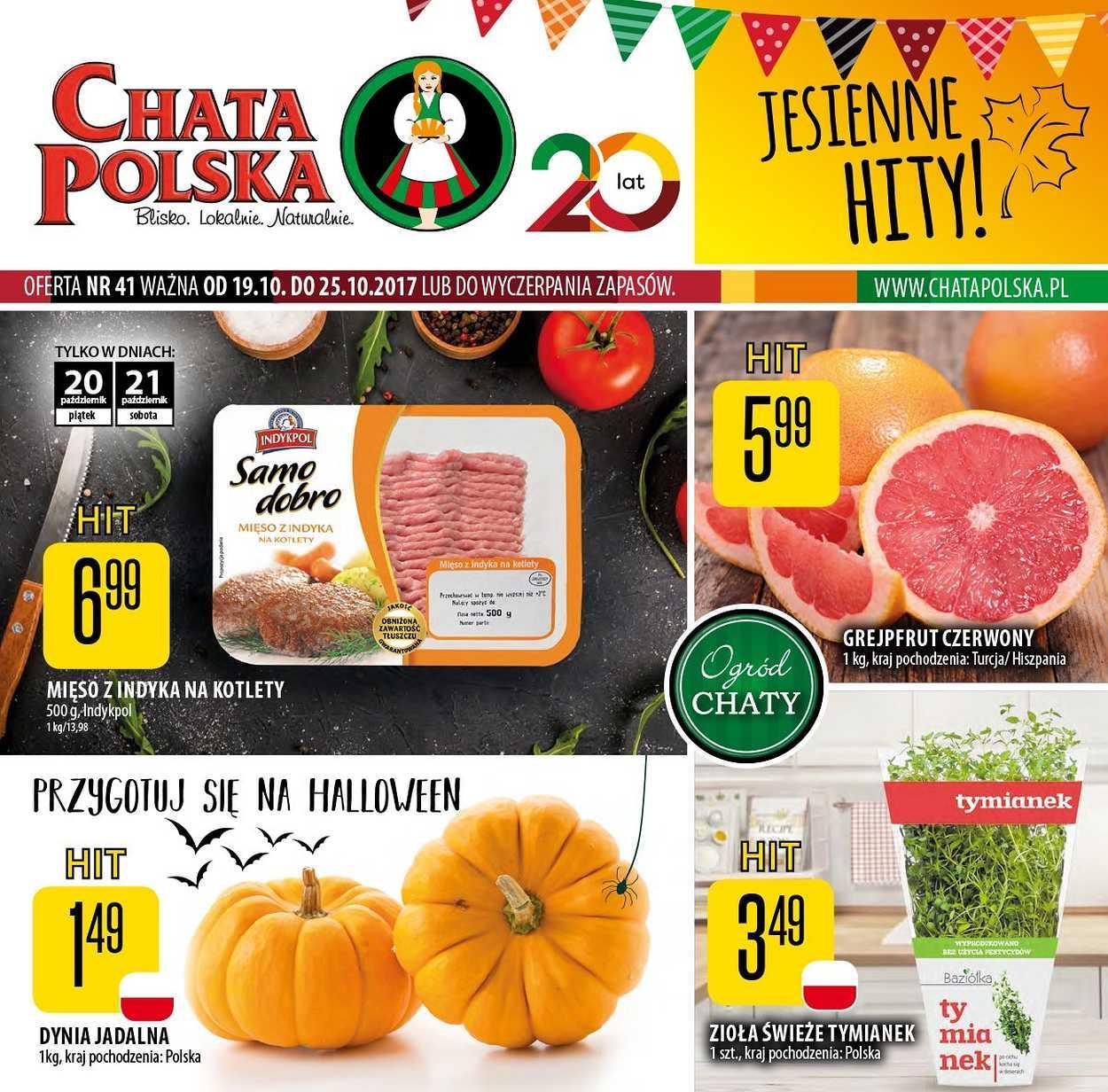 Gazetka promocyjna Chata Polska do 25/10/2017 str.0