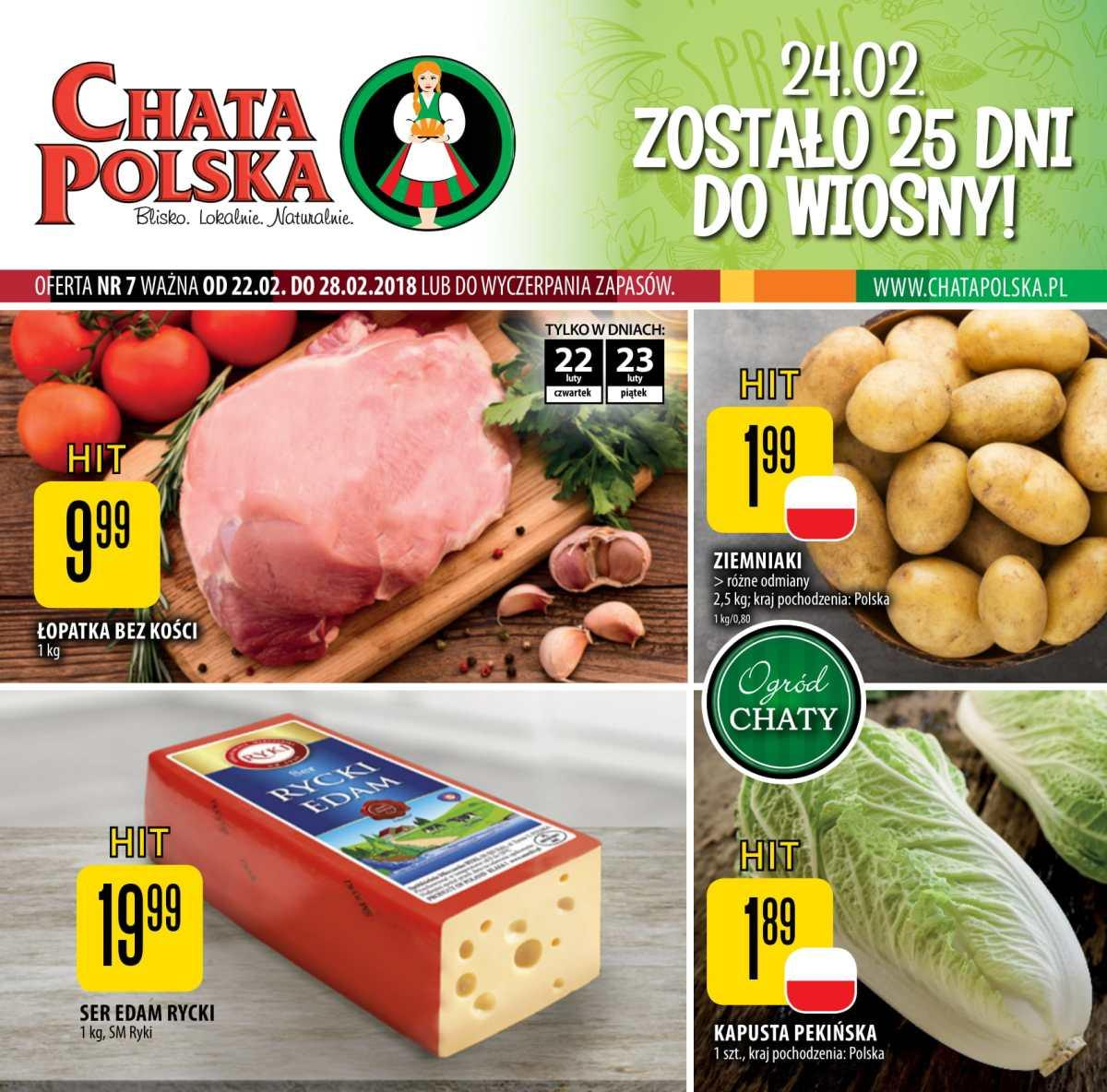 Gazetka promocyjna Chata Polska do 28/02/2018 str.0