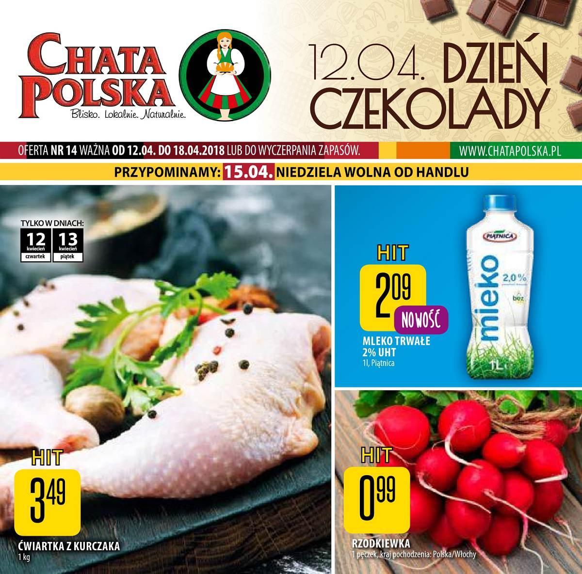 Gazetka promocyjna Chata Polska do 18/04/2018 str.0