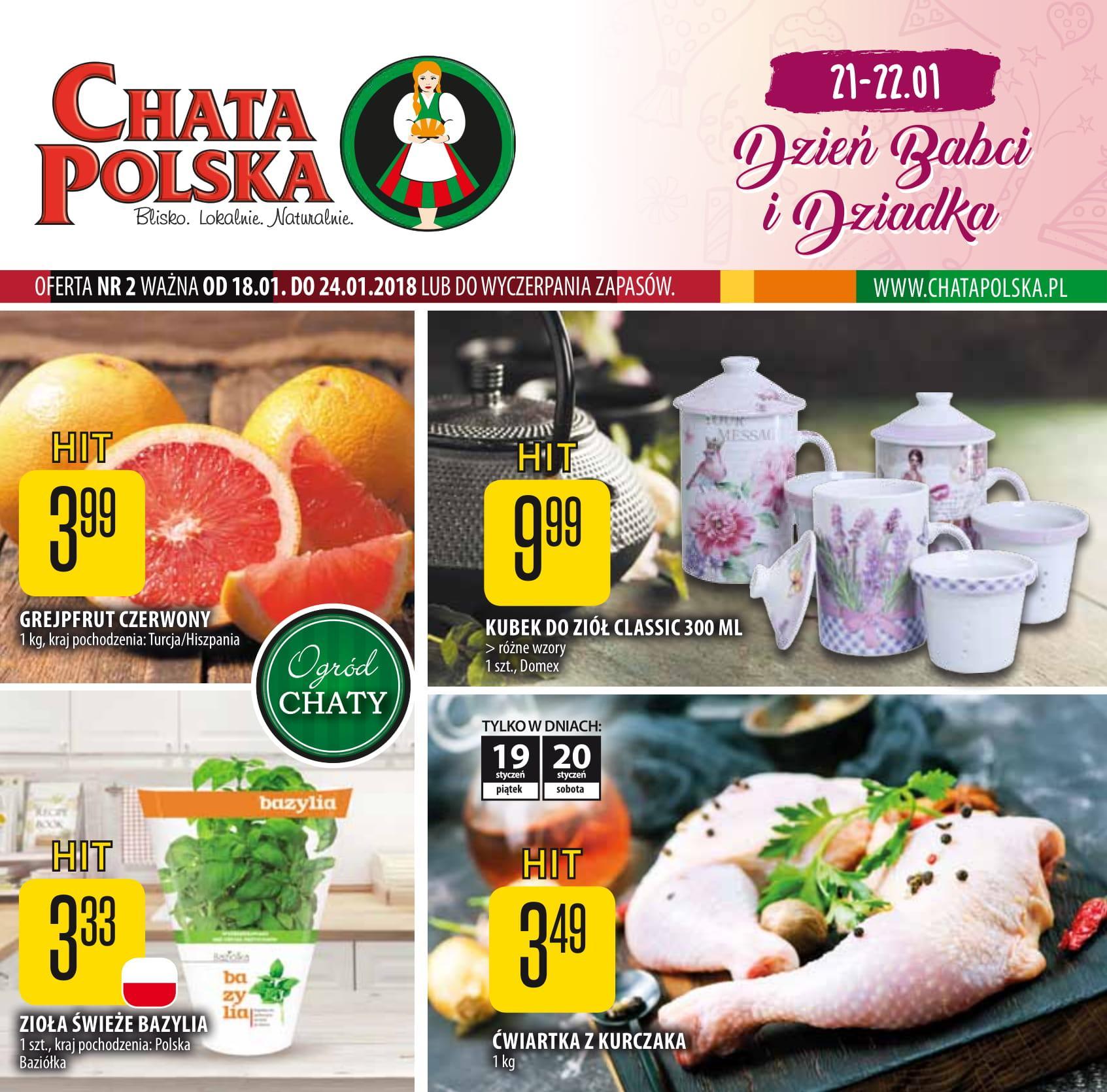 Gazetka promocyjna Chata Polska do 24/01/2018 str.0