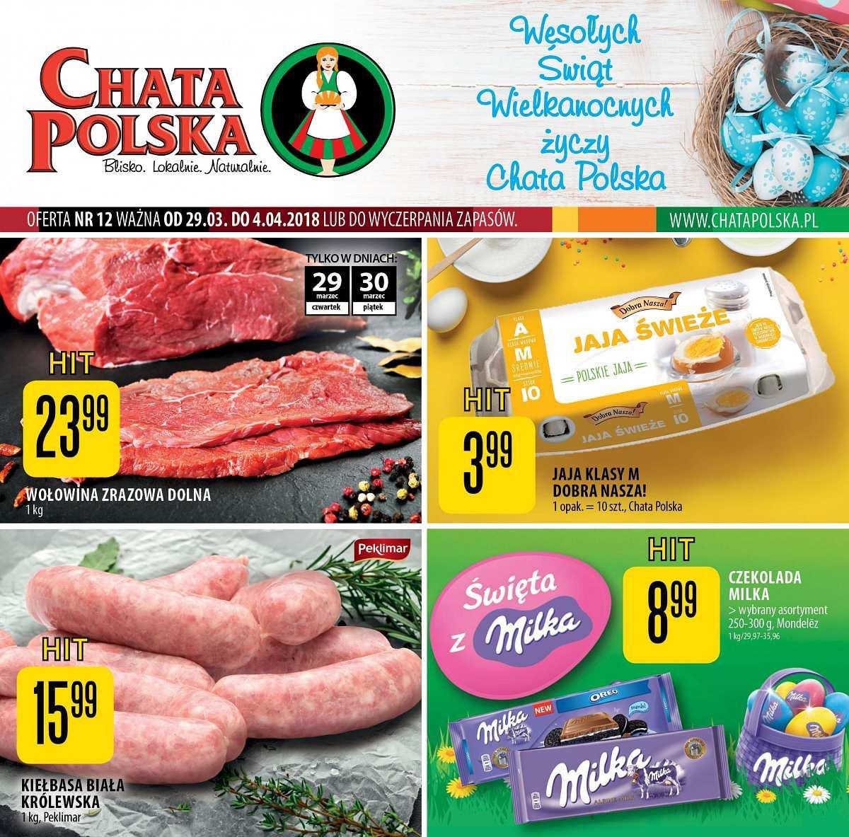 Gazetka promocyjna Chata Polska do 04/04/2018 str.0