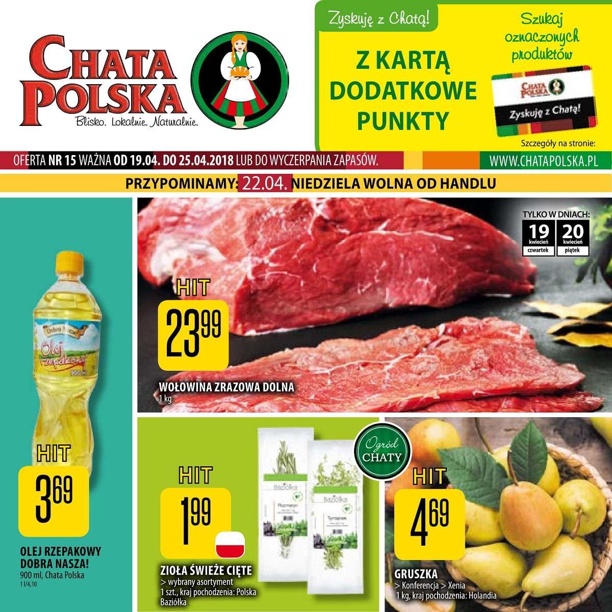 Gazetka promocyjna Chata Polska do 25/04/2018 str.0
